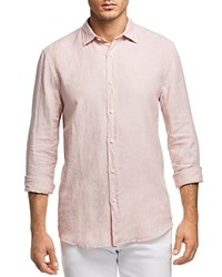 Bloomingdale's The Store At Linen Regular Fit Button Down Shirt 100 Exclusive Sepia