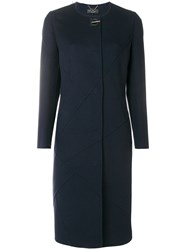 Salvatore Ferragamo Gancio Lock Coat Blue