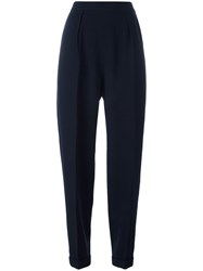 Chanel Vintage Tapered Trousers Blue