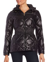 Laundry By Shelli Segal Packable Quilted Down Coat Black