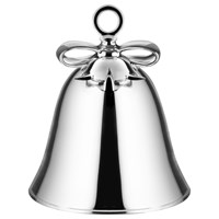 Alessi 'Dressed For Christmas' Bell Decoration Silver