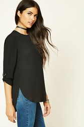 Forever 21 Semi Sheer Chiffon Blouse