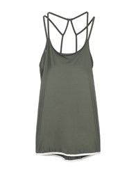 Casall Topwear Tops Military Green