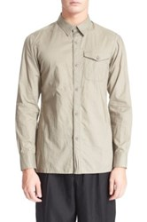 Yohji Yamamoto Single Pocket Extra Trim Sport Shirt Gray