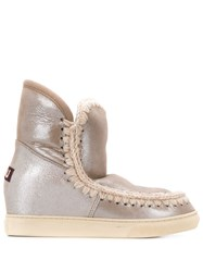 Mou Eskimo Wedge Ankle Boots Grey