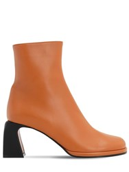 Manu Atelier 75Mm Chae Leather Ankle Boots Tan
