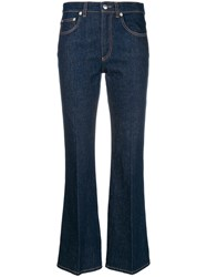 Sonia Rykiel Flared Cropped Jeans Blue