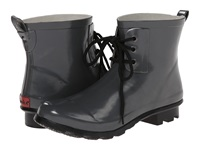 Chooka Classic Ankle Lace Up Gray Women's Rain Boots