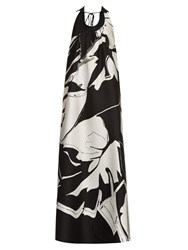 Roberto Cavalli Cotton And Silk Blend Jacquard Gown