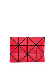 Issey Miyake Lucent Two Tone Card Holder Red Multi