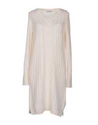 Bruno Manetti Short Dresses Ivory