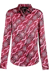 Just Cavalli Snake Print Silk Satin Shirt