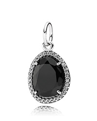 Pandora Design Pandora Pendant Sterling Silver Black Spinel And Cubic Zirconia Glamorous Legacy