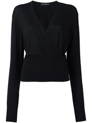 Dolce And Gabbana Wrap Jumper Black