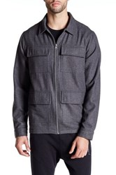 Religion Tremor Wool Zip Up Shirt Gray