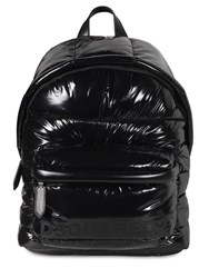 Dsquared Logo Coated Nylon Backpack Black