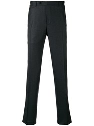 Canali Straight Leg Tailored Trousers Grey