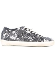 Leather Crown Perforated Sneakers Men Suede Rubber 42 Grey