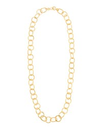 Stephanie Kantis Legend 24K Gold Plated Extra Long Circle Link Necklace