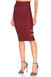 Lolitta Sophia Cut Out Midi Skirt Burgundy