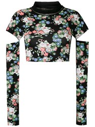Gloria Coelho Floral Cropped Blouse 60