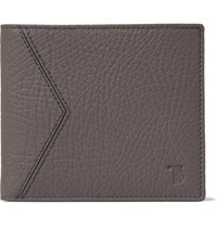 Tod's Full Grain Leather Billfold Wallet Gray