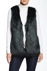 Romeo And Juliet Couture Faux Fur Vest Green