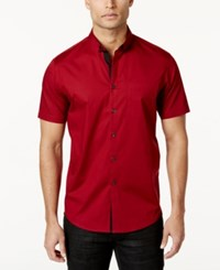 Inc International Concepts Men's Larento Stretch Shirt Only At Macy's Red