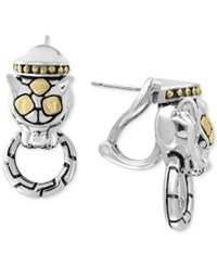 Effy Two Tone Jaguar Door Knocker Earrings In Sterling Silver And 18K Gold
