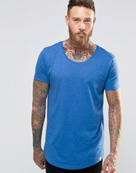 Lee Shaped Hem T Shirt True Blue Melange True Blue