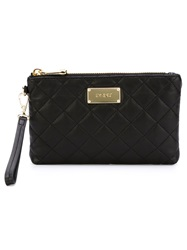 Dkny Quilted Wristlet Pouch Black