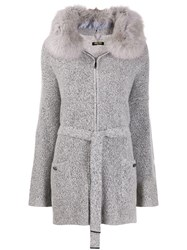 Max And Moi Renard Knitted Coat Grey