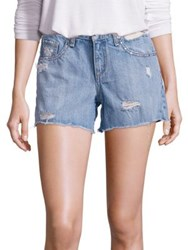Rag And Bone Distressed Studded Boyfriend Denim Shorts
