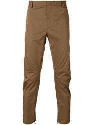 Lanvin Fitted Chinos Brown