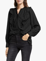 And Or Rita Ruffle Blouse Black