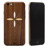 Toast Real Wood Iphone 6 Inlay Cover Walnut