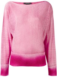 Avant Toi Bonbon Knitted Sweater Women Cotton Linen Flax Cashmere L Pink Purple
