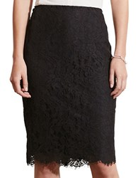 Lauren Ralph Lauren Lace Pencil Skirt Black