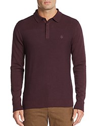 Vince Camuto Core Knit Polo Shirt Berry