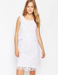 Soaked In Luxury Lace Overlay Dress Purewhite
