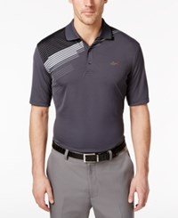 Greg Norman For Tasso Elba Men's Striped Golf Polo Only At Macy's Storm Grey