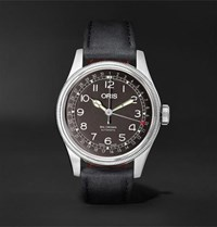 Oris Big Crown Pointer Date Automatic 40Mm Stainless Steel And Leather Watch Black