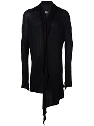 Lost And Found Ria Dunn Long Draped 'Over' Cardigan Black