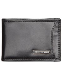 Geoffrey Beene Leather Front Pocket Wallet Black