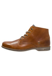 Sneaky Steve Crasher Laceup Boots Cognac