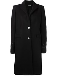 Versus Sleeve Detailing Mid Coat Black