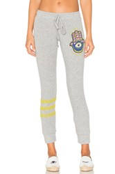 Lauren Moshi Kizzy Hamsa Eye Sweatpant Gray