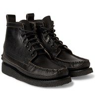 Yuketen Maine Guide 6 Eye Waxed Leather Boots Black