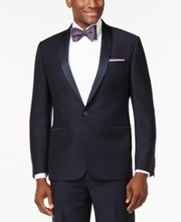 Ryan Seacrest Distinction Slim Fit Navy Textured Shawl Lapel Tuxedo Jacket Only At Macy's