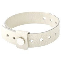 Cast Of Vices Leather Concert Bracelet White